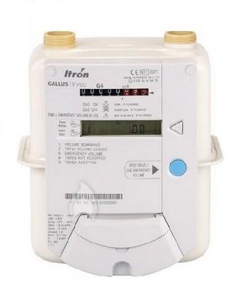 Счетчик газа Itron Actaris Gallus 2002 G4 RF1 с системой предоплаты