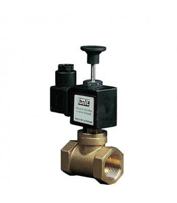 BEV 400 RM – латунные нормально открытые газовые клапана с ручным взводом