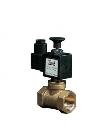 BEV 500 RM – латунные нормально закрытые газовые клапана с ручным взводом