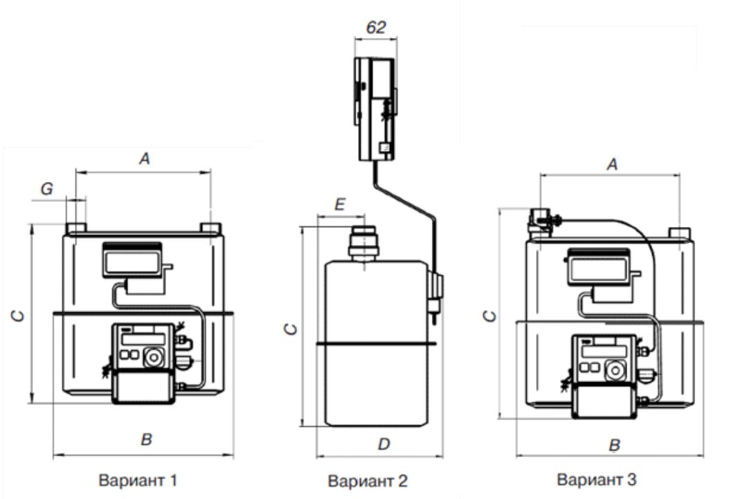 Комплекс для измерения количества газа СГ-ТК-Д-40