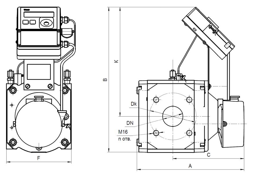 Комплекс СГ-ТК-Р со счетчиками RABO С корректором ТС220