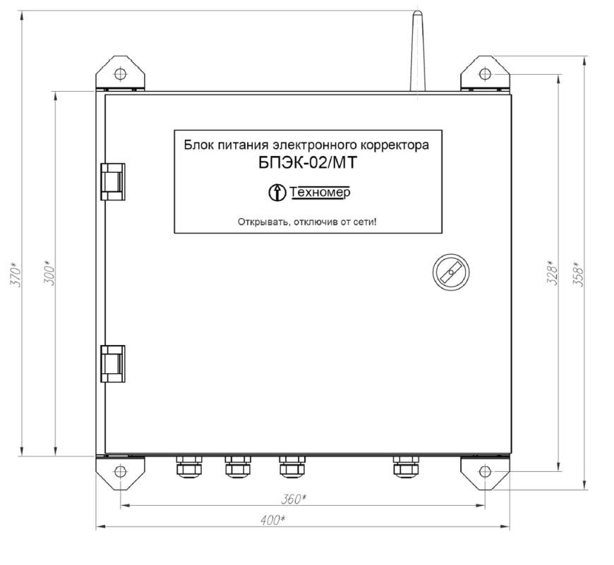 Габаритные размеры коммуникационного модуля БПЭК-02/МТ